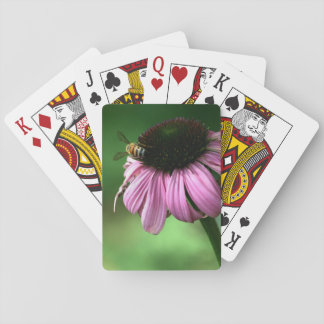 Bee on Flower Playing Cards