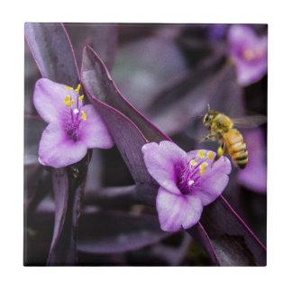Bee on Flower Tiles