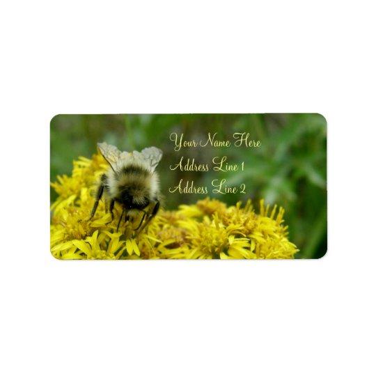 Bee on Goldenrod, Solidago