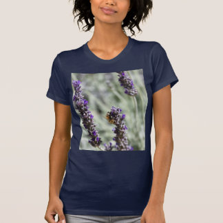 Bee on Lavender Flowers T-shirt