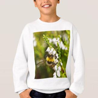 Bee on Lucky White Heather Sweatshirt
