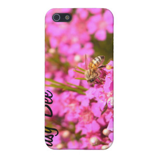 Bee on pink flowers case for iPhone 5/5S