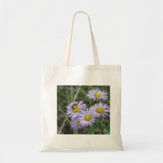 Bee on Purple Aster Tote Bag