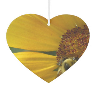 Bee on Sunflower Car Air Freshener
