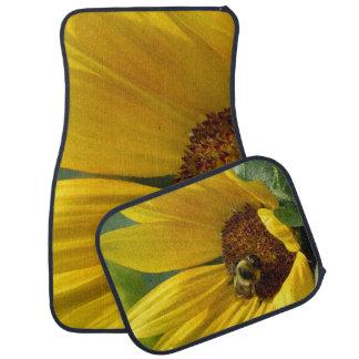Bee on Sunflower Car Mat
