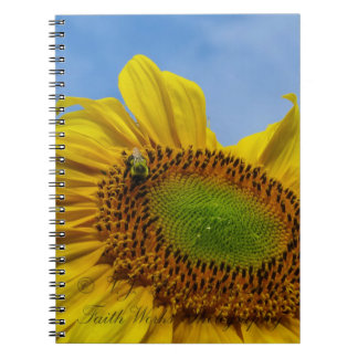 Bee on Sunflower Notebook