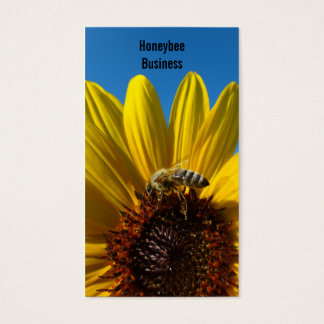 Bee on Sunflower photo business card