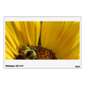 Bee on Sunflower Wall Sticker