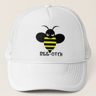 Bee-otch Hat white