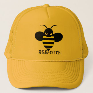 Bee-otch Hat yellow