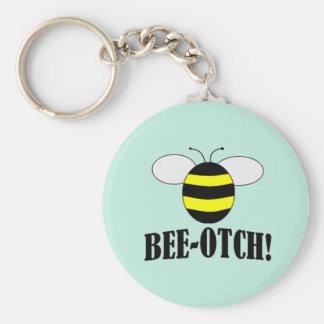 Bee-otch keychain gifts