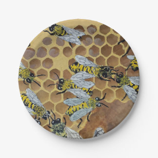 bee paper plates 7 inch paper plate