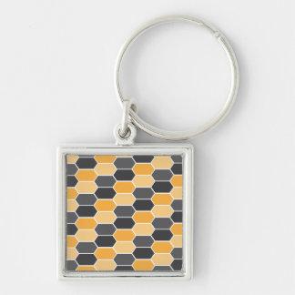 bee pattern keychain