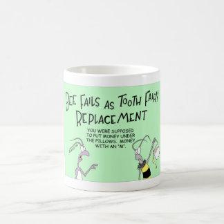 Bee plays a tooth fairy coffee mug