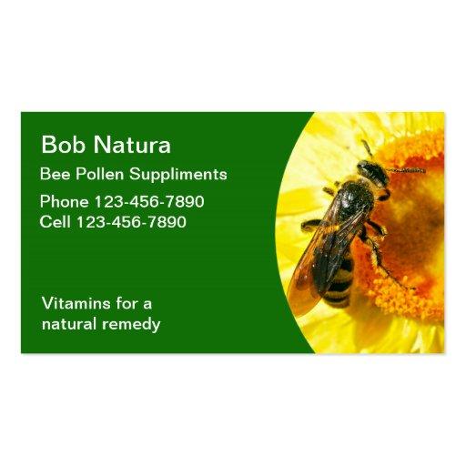 Bee Pollen Business Cards