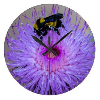 Bee Pollinating Wildflowers Clock