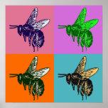 Bee Pop Art Poster