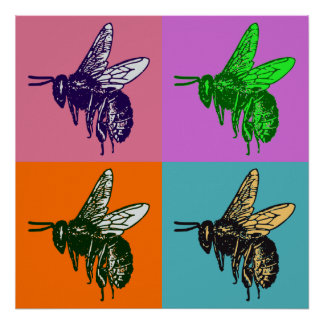 Bee Pop Art Poster