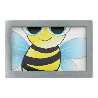 bee rectangular belt buckle