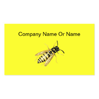 Bee Silhouette Business Cards