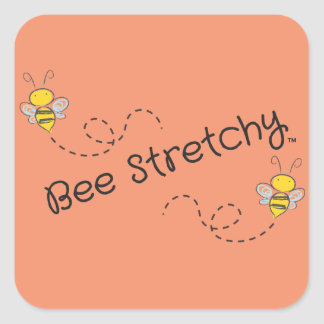 Bee Stretchy logo stickers