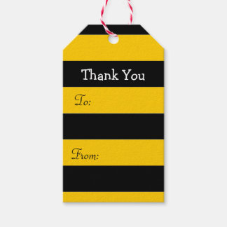 Bee Stripes Thank You Pack Of Gift Tags