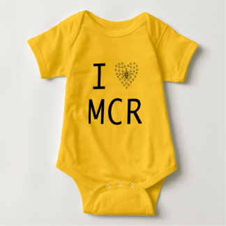 Bee Strong / I love Manchester Baby Bodysuit