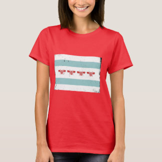 Bee Style Chicago Flag T-Shirt