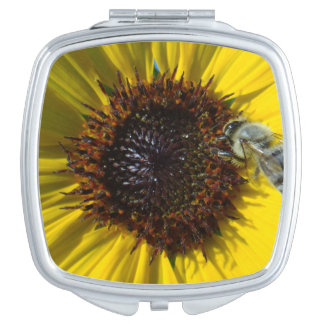 Bee & Sunflower photo compact Makeup Mirror
