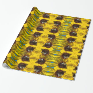 Bee & Sunflower photo wrapping paper