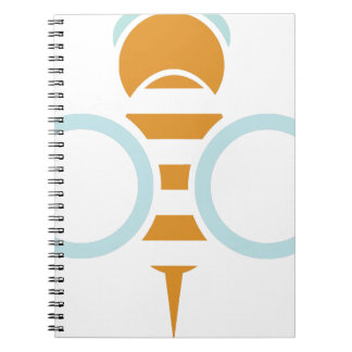 Bee Symbol Spiral Notebook