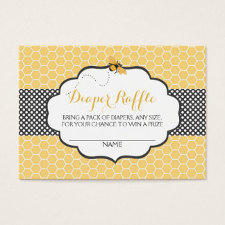 Bee Theme Honeycomb Gold & Gray Polka Dot Business Card