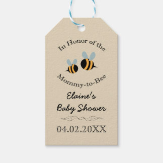 Bee Themed - Baby Shower Favor Tags - Mommy to Bee