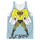 Bee U (Be You) white or red stars All-Over-Print Tank Top