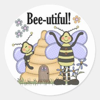 Bee-utiful Bumblebees Classic Round Sticker