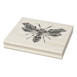 Bee-Wasp Tattoo Rubber Stamp