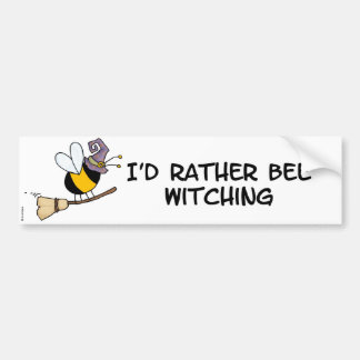 bee witching bumper sticker