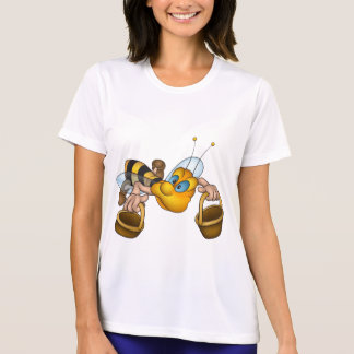 Bee With Buckets Womens Active Tee