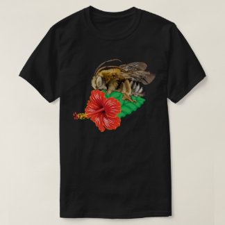 Bee with Hibiscus T-Shirt