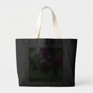 Bee with Velvet Flowers Jumbo Tote Tote Bags