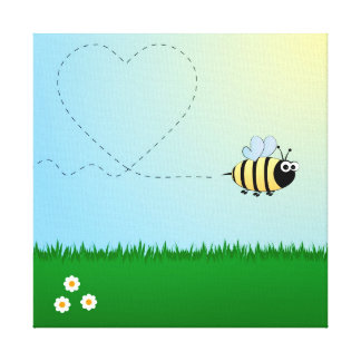 Bee wrapped canvas gallery wrapped canvas