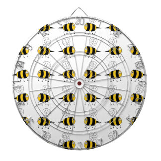 bee -  yellow dartboards