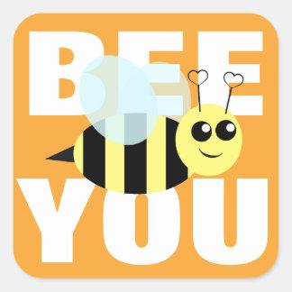 Bee You Square Sticker