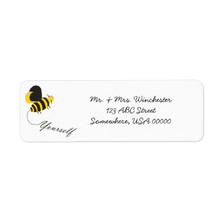Bee Yourself Return Address Label