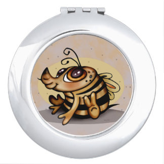 BEEBEE CUTE CARTOON compact mirror ROUND