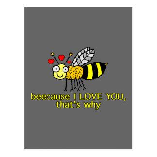 Beecause I Love You Postcard