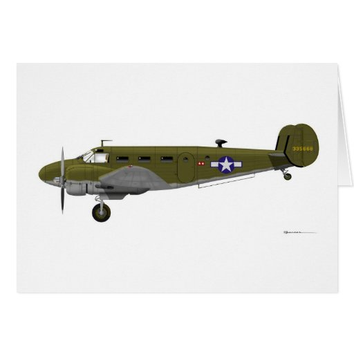 Beech C-45 Expeditor Army Air Corps Greeting Card