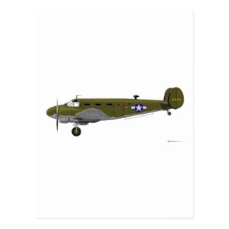 Beech C-45 Expeditor Army Air Corps Postcard