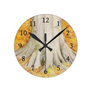 Beech Feet Round Clock