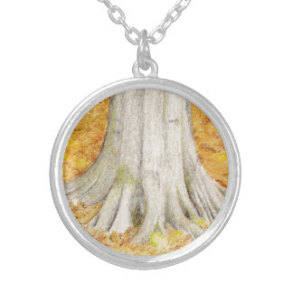 Beech Feet Silver Plated Necklace